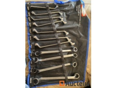 12 Piece of 6-32mm ring key set in pouch