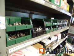 13 bins with screws, nails, washers,...
