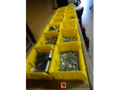 14 bins with fasteners, various washers, nuts, blind nuts, bouten