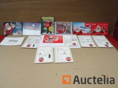 14 different collection cards Coca-Cola