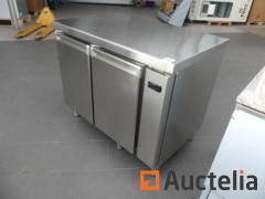 2-door stainless steel refrigerated cabinet (for external cooling unit) AFI