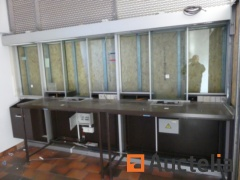2 secure counters with armored windows