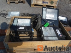 3 spotlights little served FLOODLIGHTS with extension and plug