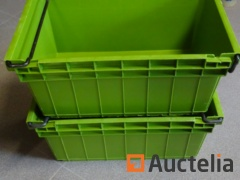 5 Bins CURTEC Plastic embodying and stackable with metal handle