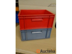 5 Bins Plastic Storage ALLIBERT stackable