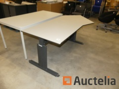 5 Office tables, 3 Tabels