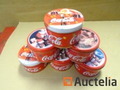 6 Candles with decoration various Coca-Cola
