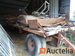 Agricultural trailer with content