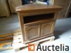 Furniture Oak-plated corner TV with swivel tray