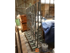 Galvanized Glasstransport easel