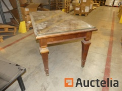 Inlaid wood Office table