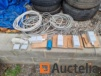 Lot of electricity equipment (cables, plugs, circuit breakers, etc.)