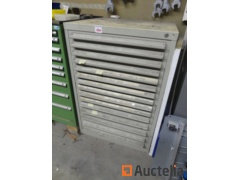 Metal cabinet with 15 drawers