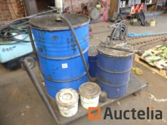 Metal Trolley with Grease barrel