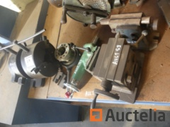 Metal Workbench with accessories for tool machine