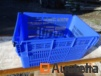 Plastic storage bins with perforated walls, closed bottom: