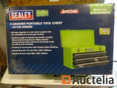 Portable chest with 3-drawer tools SEALEY AP9243BBHV-HI-VIS GREEN