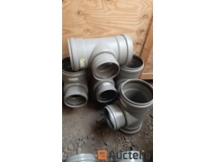 PVC drip connections - T of 250mm * 250mm * 200mm - 5 copies
