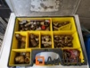 Stanley box with fitting lot brass/Copper sanitary heating