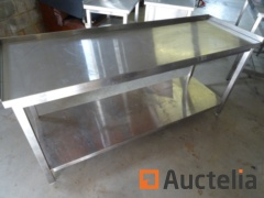 Table in stainless steel 180 x 60