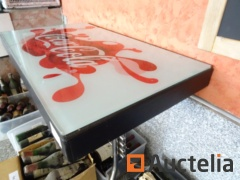 Table with Coca-Cola platter