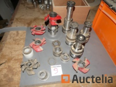 Tool holder cutters and cones set