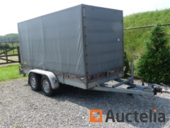 Trailer braked double-axle closed HELPO 2.7 T