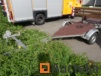 Trailer with manual winch
