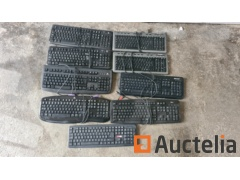 Very large lot of keyboards with and without wires including LOGITECH (9PCS)