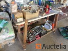 Wood Workbench and hand tools
